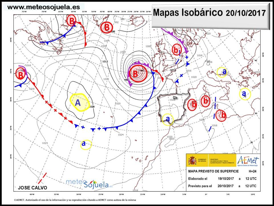 mapa isobarico,tiempo,larioja,josecalvo,meteosojuela
