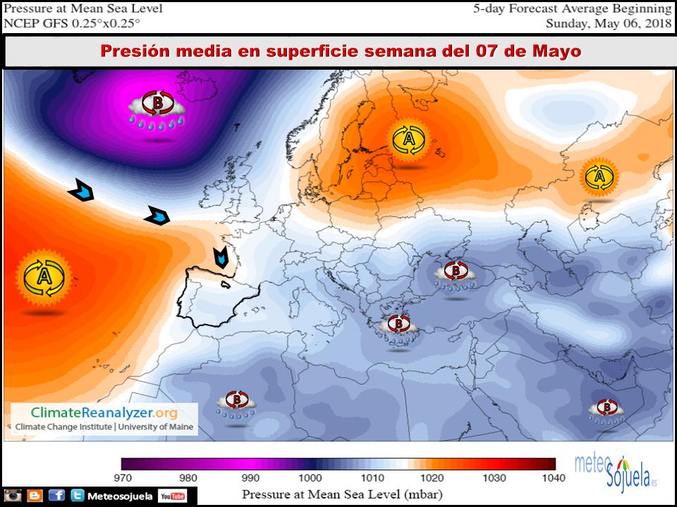 Modelos de presión en superficie. Meteosojuela