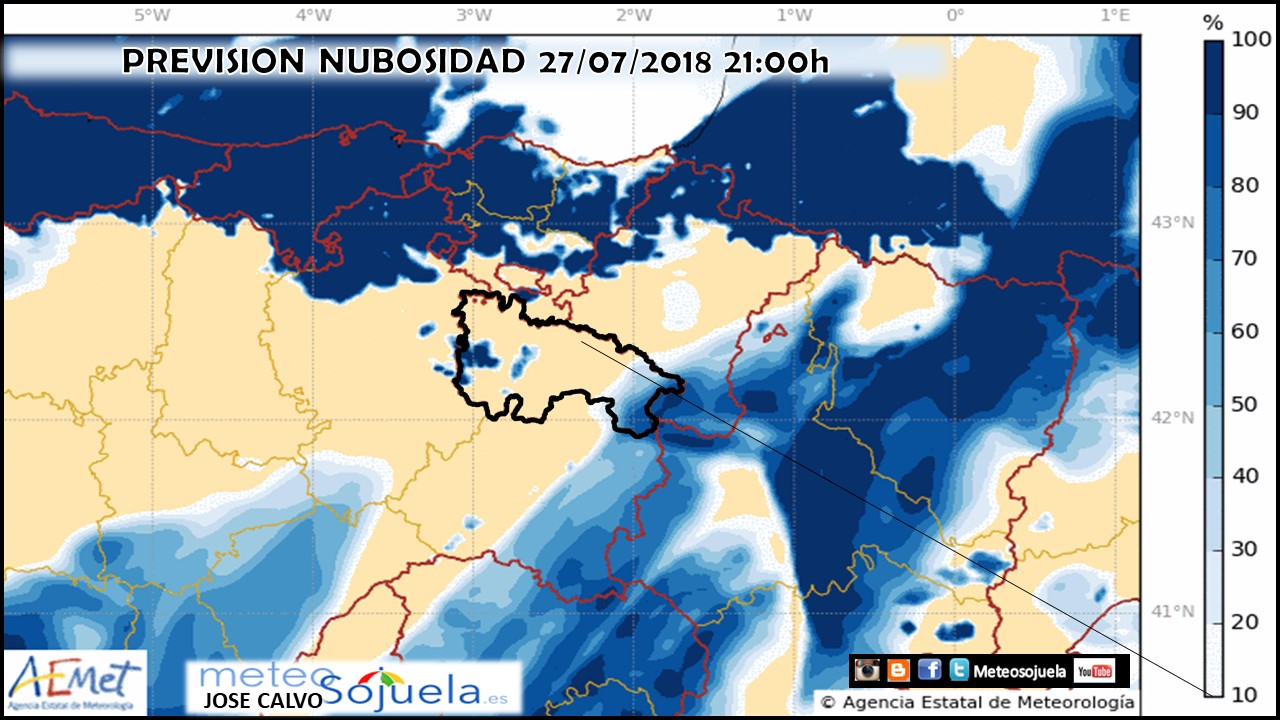 Nubosidad modelo Harmonie. Meteosojuela