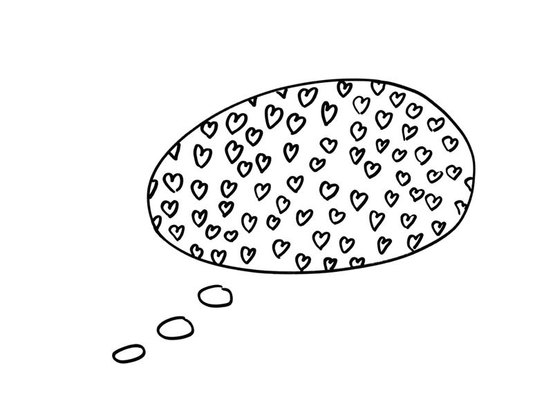 Amor-obsesión. Dibujo de Isabel Merino para el libro Minimapas