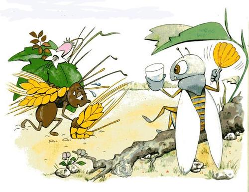 La hormiga estaría dominada el perro de arriba y la cigarra se dejaría llevar por el de abajo. Mercedes García Laso, psicólogo clínico Logroño.