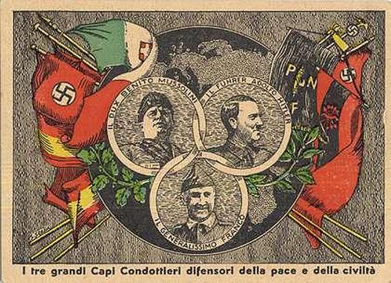 Franco, Mussolini y Hitler