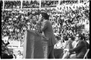 Mitin de Felipe González en Logroño, en 1977. Foto de Teo (Archivo Casa de la Imagen)