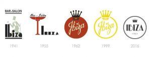 Logos del Ibiza a lo largo de su historia