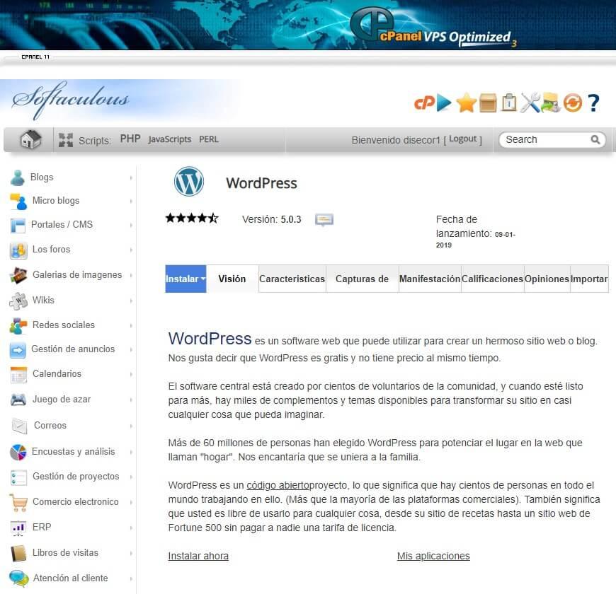 instalador-wordpress