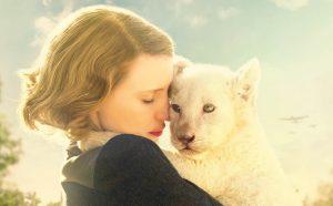 Jessica Chastain y una mascota