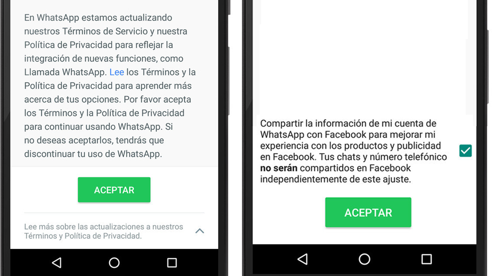 whatsapp y facebook