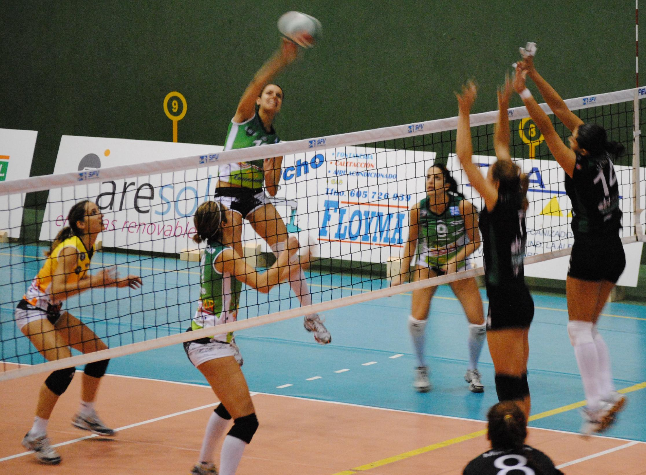 objetivo de charnela de voleibol